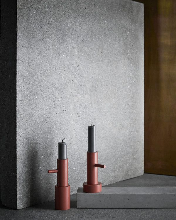 Fritz Hansen Single 1 Terracotta kandelaar