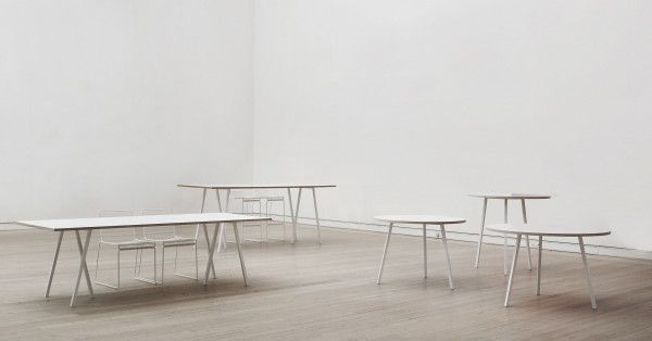 Hay Loop Stand tafel wit 200x93