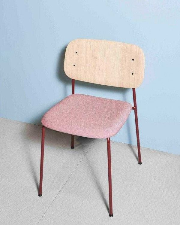 Hay Soft Edge Steel gestoffeerde stoel