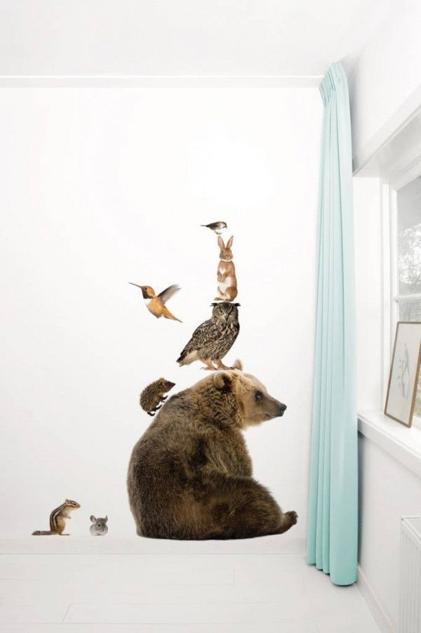 KEK Amsterdam Forest Friends Bear XL & Friends set 7 muursticker