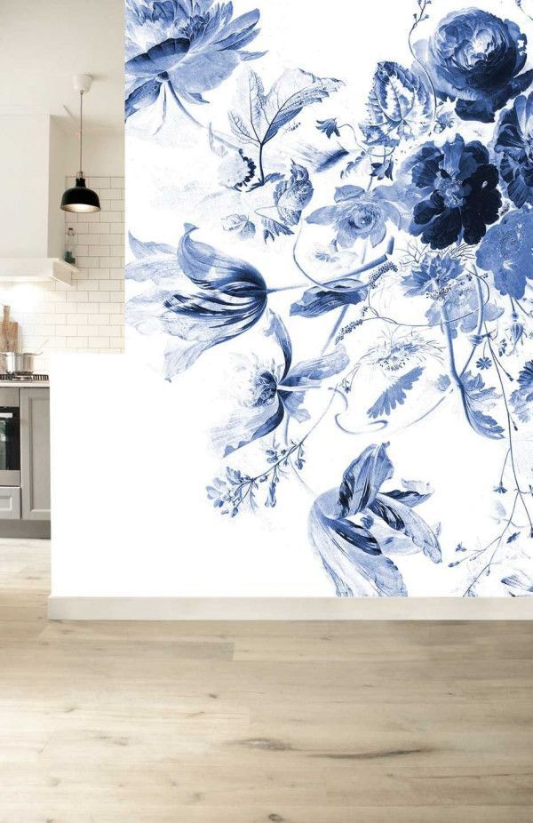 KEK Amsterdam Royal Blue Flowers III behang