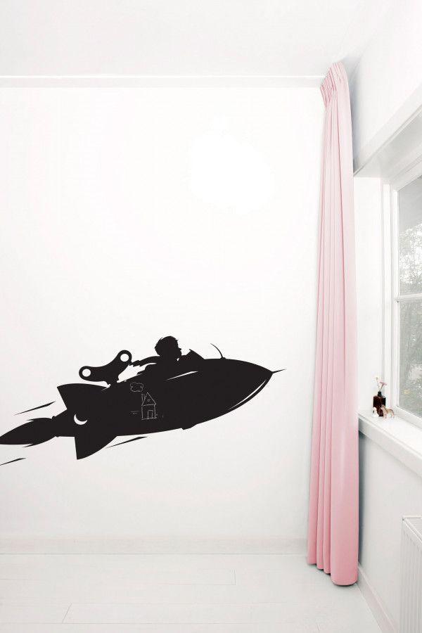 KEK Amsterdam Toys for Boys: Airplane muursticker