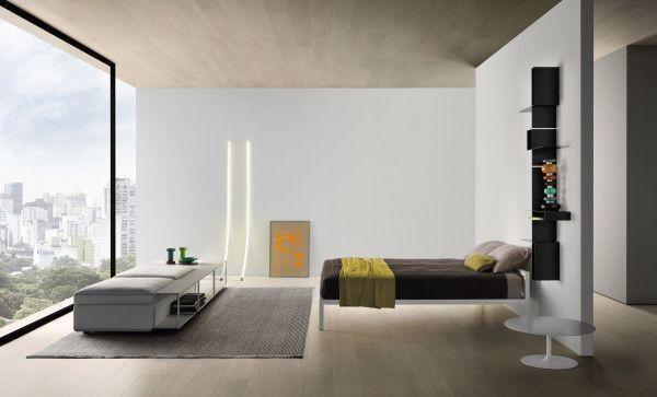 MDF Italia Aluminium Lacquered bed met hoofdbord 160x210