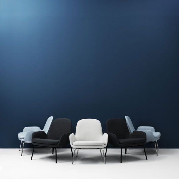 Normann Copenhagen Era Lounge Chair Low loungestoel met verchroomd onderstel