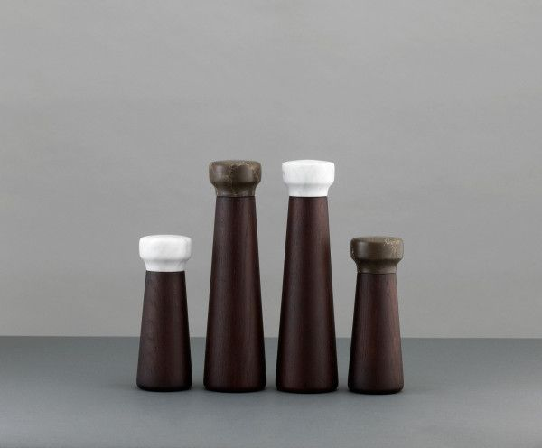 Normann Copenhagen Craft peper- en zoutmolen wit small