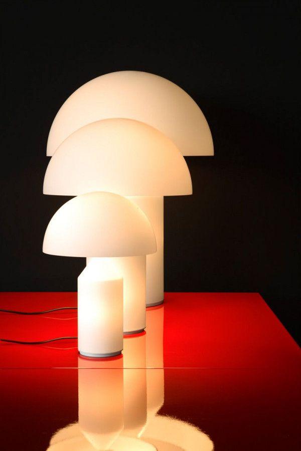 Oluce Atollo 35 Glass tafellamp