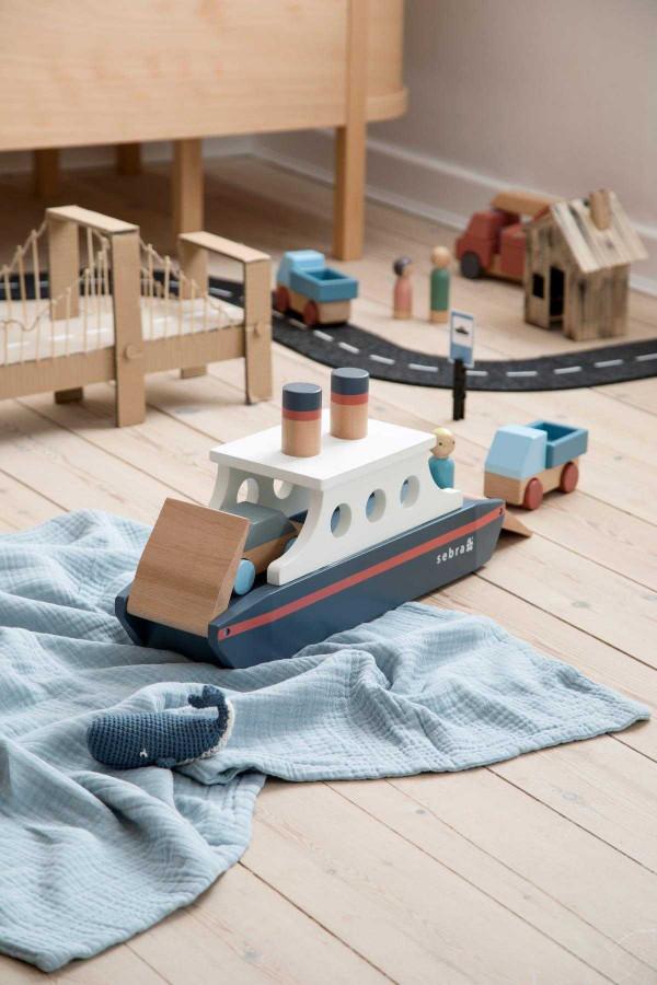 Sebra Houten Boot speelgoed