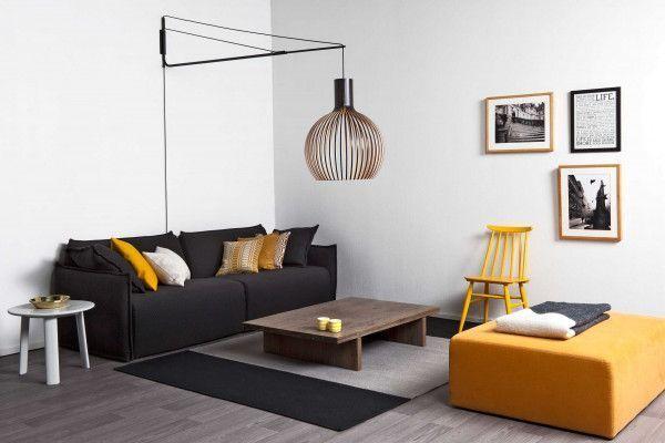Secto Design Octo 4240 wandlamp met zwarte beugel