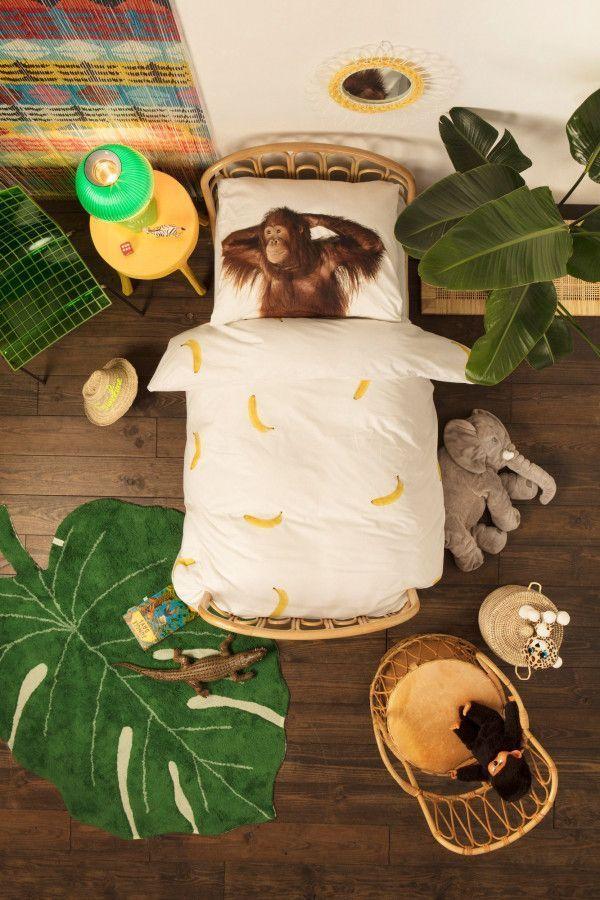 Snurk Banana Monkey dekbedovertrek 1-persoons
