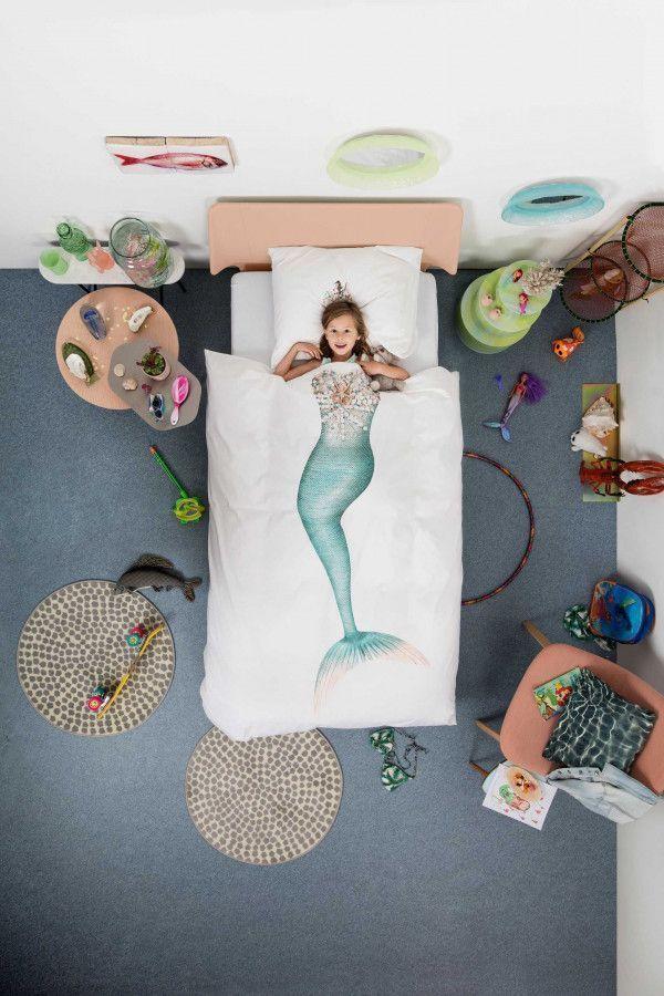 Snurk Mermaid dekbedovertrek 140 x 200/220 cm