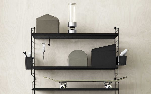 String Metal shelf low edge 78x30 1-pack
