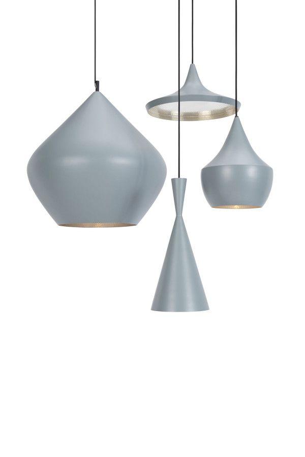 Tom Dixon Beat Light Stout hanglamp grijs