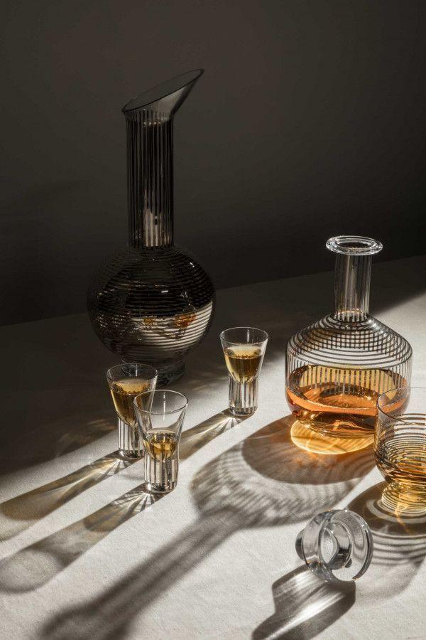 Tom Dixon Tank Platinum Whiskey karaf met 2 glazen