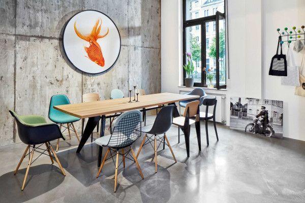 Vitra Eames DAW gestoffeerde stoel