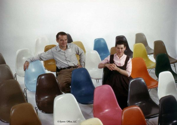Vitra Eames DSW stoel geelachtig esdoorn onderstel, Nieuwe kleuren