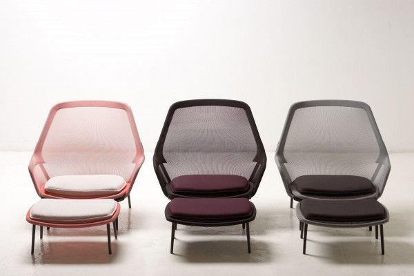 Vitra Slow chair met Ottoman loungestoel