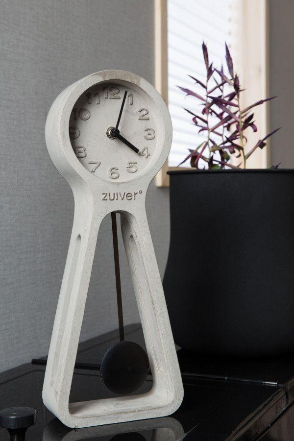 Zuiver Pendulum Time klok beton