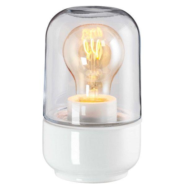Ifö Electric Ohm 100170 plafond en wandlamp porselein IP44 helder