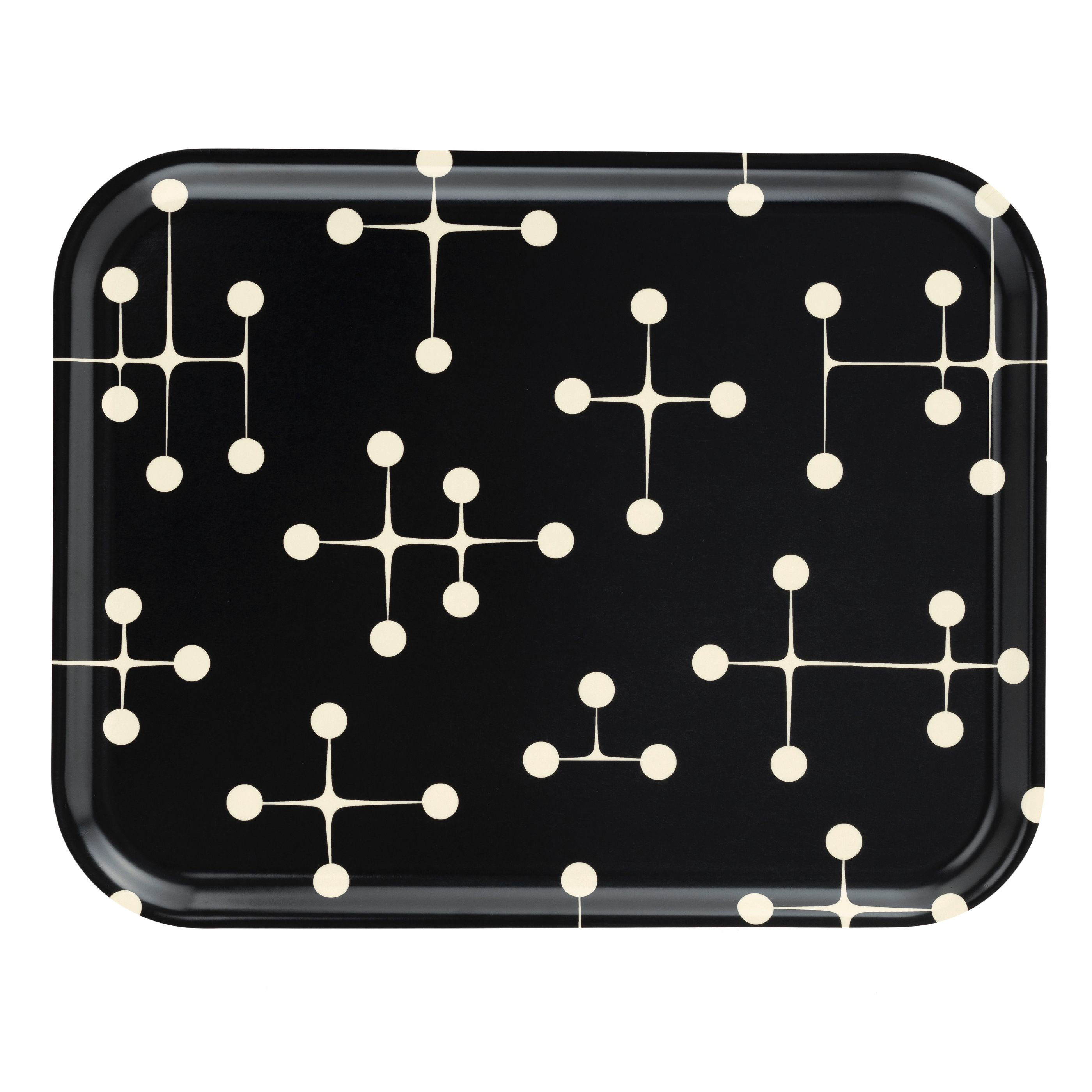 Vitra Classic Tray Dot Pattern Reverse dienblad large dark kopen