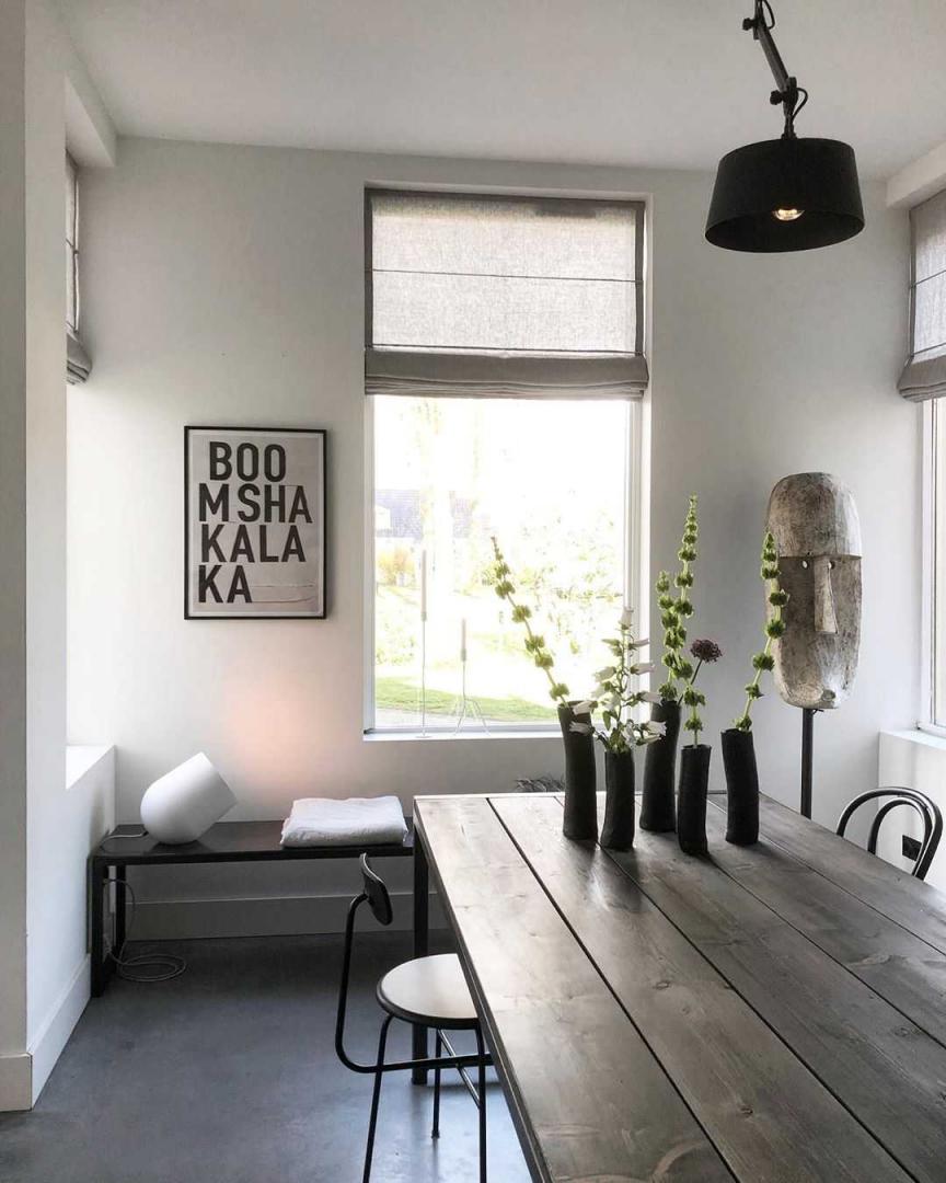 Eetkamer Eetkamer inspiratiefoto met Menu Horeca stoelen