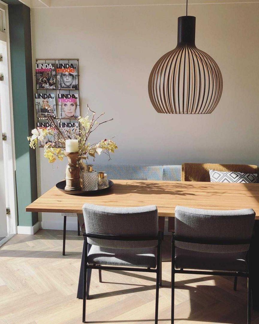 Eetkamer Eetkamer inspiratiefoto met Secto Design LED hanglampen
