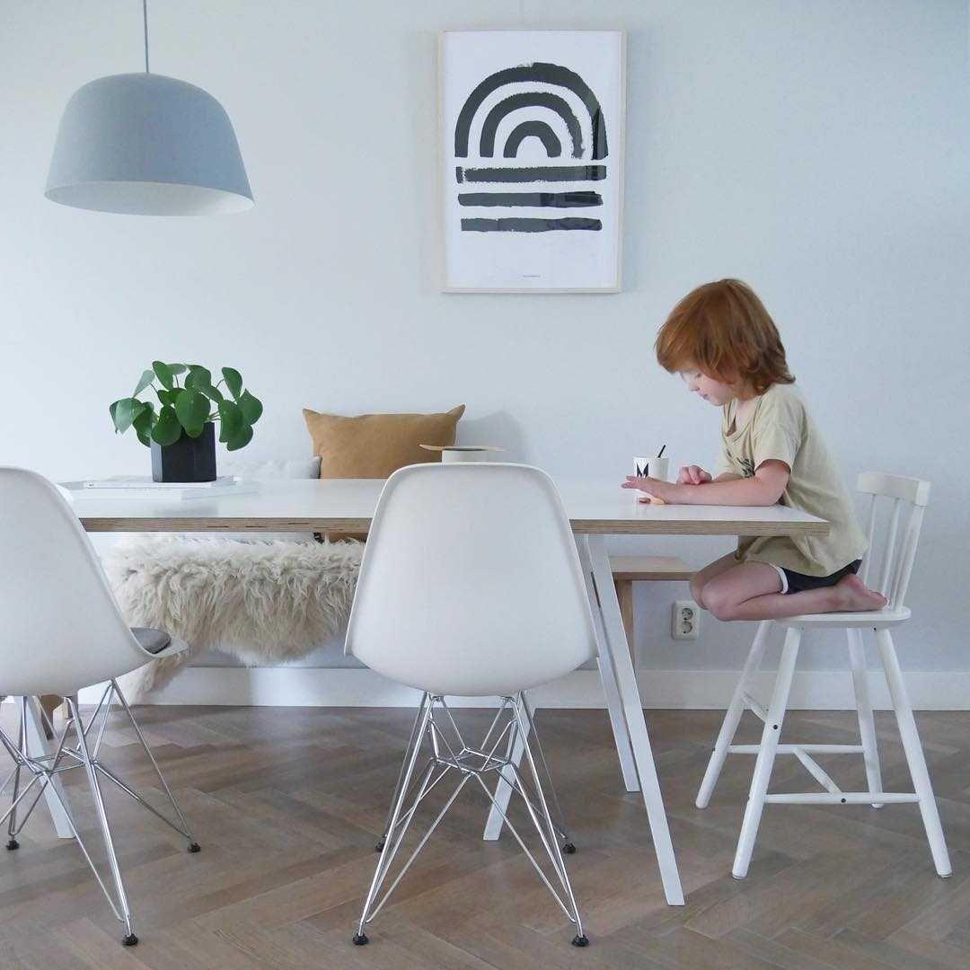 Eetkamer Eetkamer inspiratiefoto met Hay Banken en stoelen