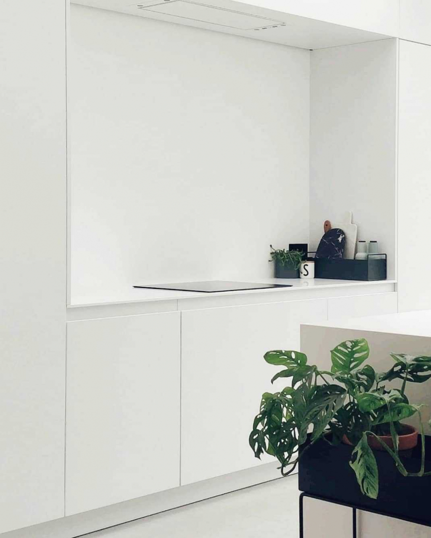 Keuken Keuken inspiratiefoto met Ferm Living Plantenbakken