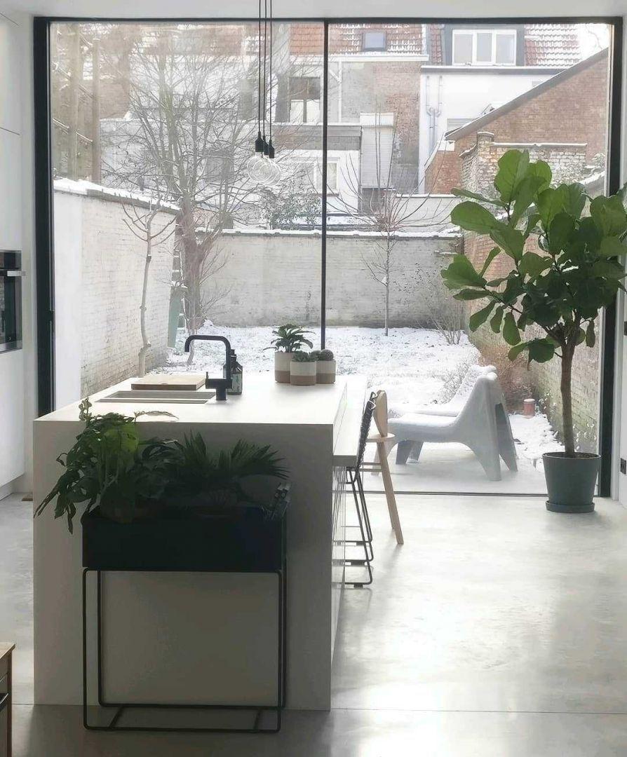 Keuken Keuken inspiratiefoto met Ferm Living Hanglampen