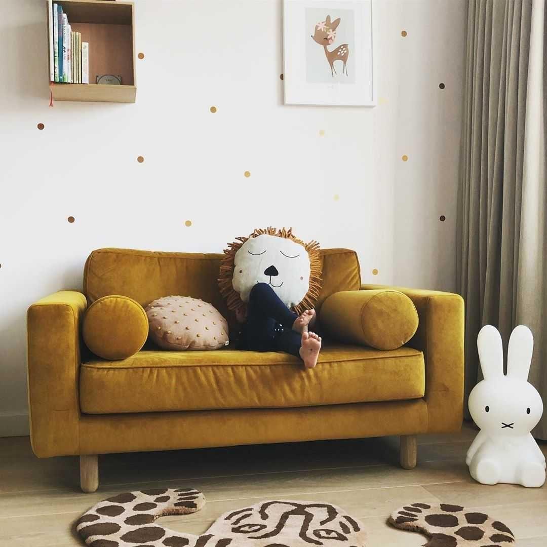 Kinderkamer Kinderkamer inspiratiefoto met Ferm Living Vloerkleden
