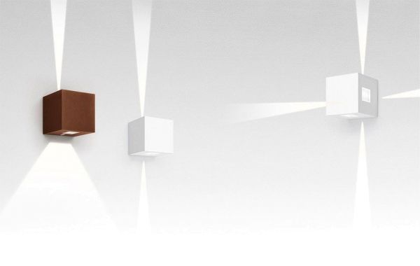 Artemide Effetto 14 quadro wandlamp LED 2 brede lichtstralen