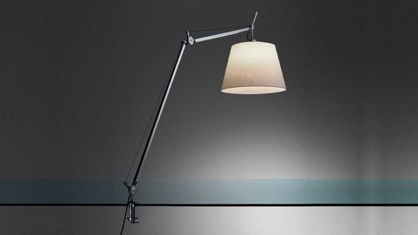 Artemide Tolomeo Mega Tavolo bureaulamp LED met snoerdimmer en tafelklem zwart