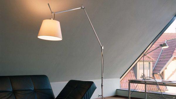 Artemide Tolomeo Mega Terra vloerlamp met dimmer aluminium