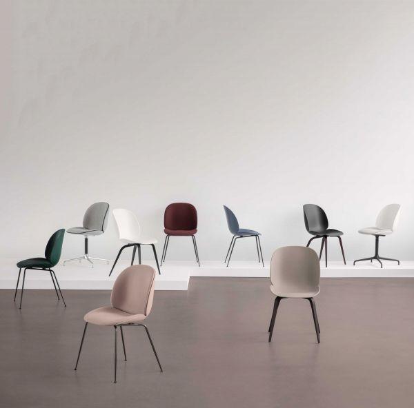 Gubi Beetle Conic stoel met zitkussen