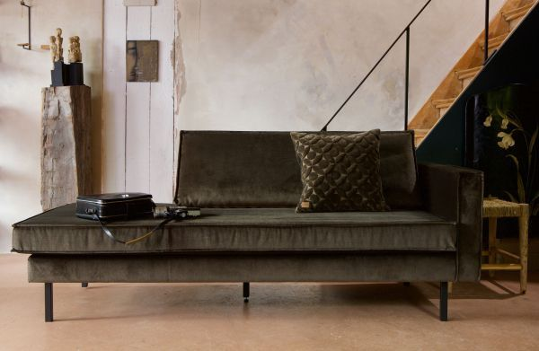 BePureHome Rodeo Velvet Daybed bank rechts