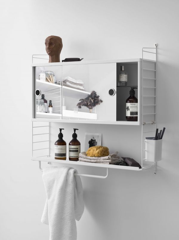 String Kast badkamer medium, grijs