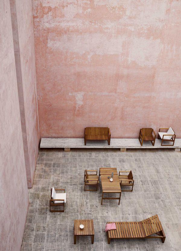 Carl Hansen & Son BK12 indoor-outdoor bank