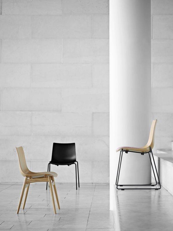 Carl Hansen & Son Preludia 4-Leg stoel met zitkussen