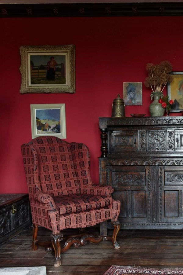 Farrow & Ball Hout- en metaalverf binnen Rectory Red (217)