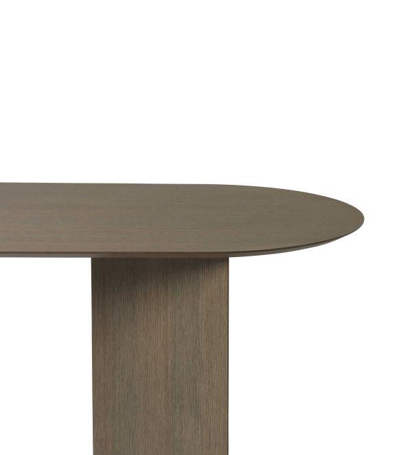 Ferm Living Mingle tafel 220 ovaal dark stained oak veneer