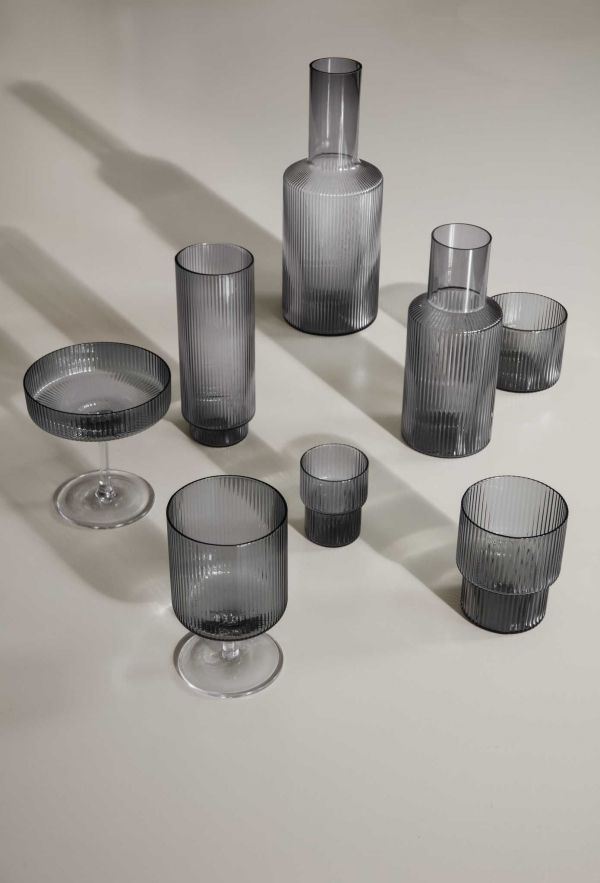Ferm Living Ripple glazen set van 4