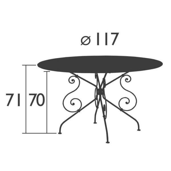 Fermob 1900 tuintafel 117cm