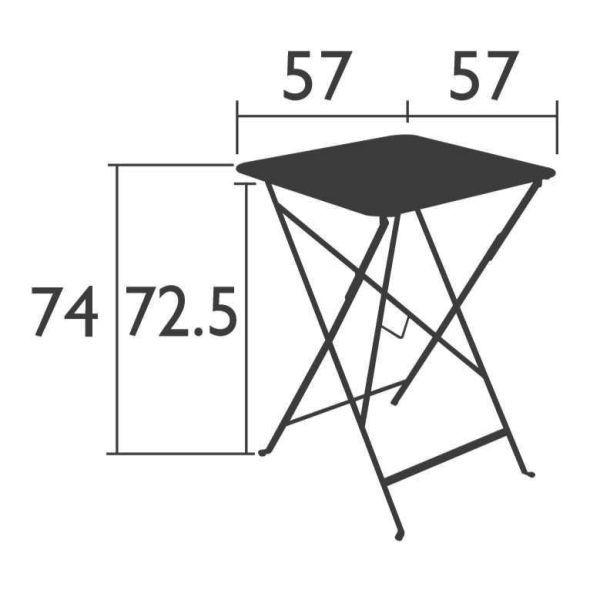 Fermob Bistro tuintafel 57x57