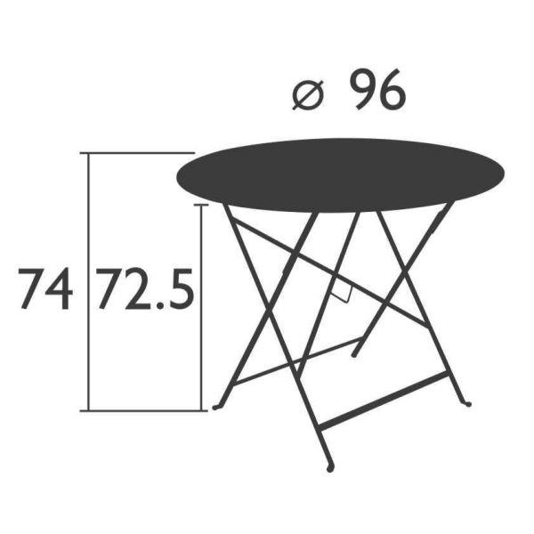 Fermob Bistro tuintafel 96