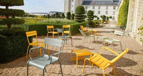 Fermob Luxembourg fauteuils + 2 voetenbanken