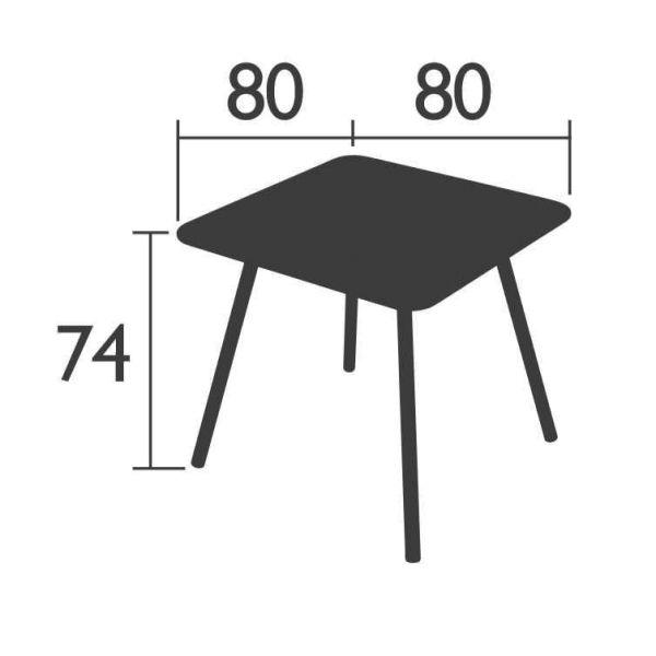 Fermob Luxembourg tuintafel vierpoot 80x80