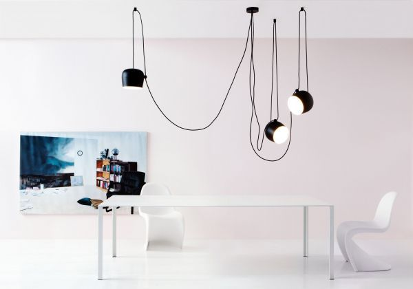 Flos Aim Small hanglamp set van 3 LED zwart
