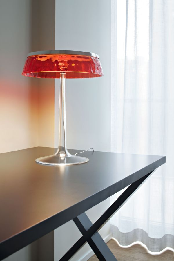 Flos Bon Jour tafellamp LED chroom