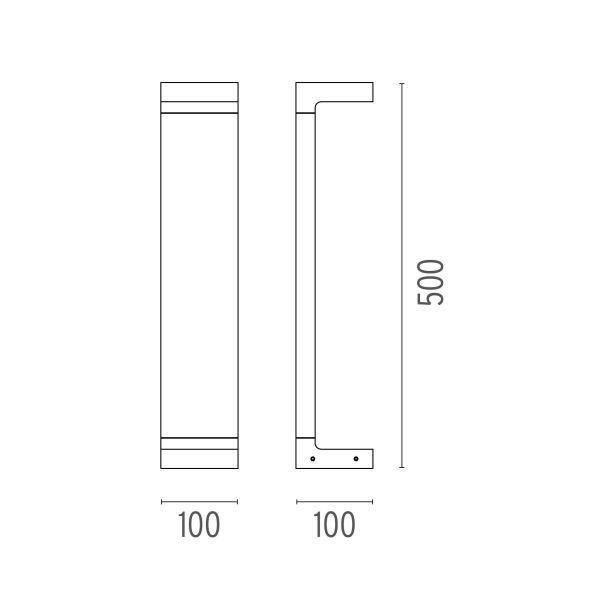 Flos Casting C 100x500 sokkellamp LED 2700K