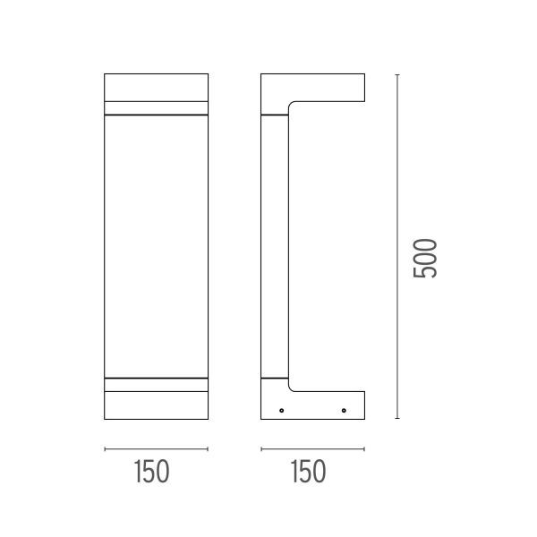 Flos Casting C 150x500 sokkellamp LED 3000K