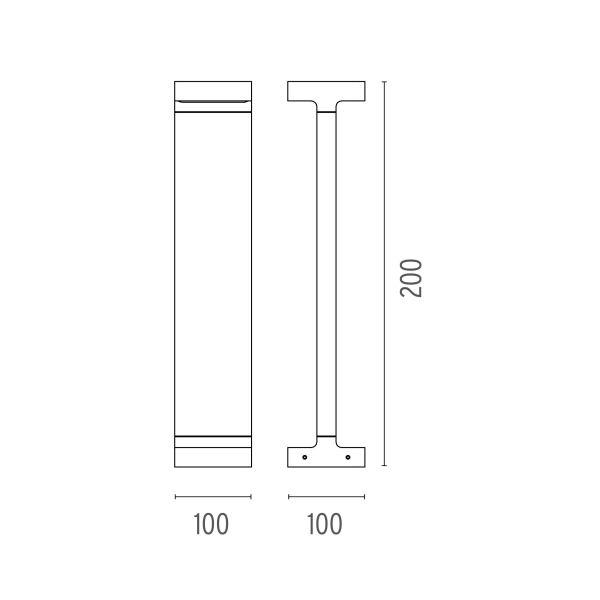 Flos Casting T 100x200 sokkellamp LED 2700K